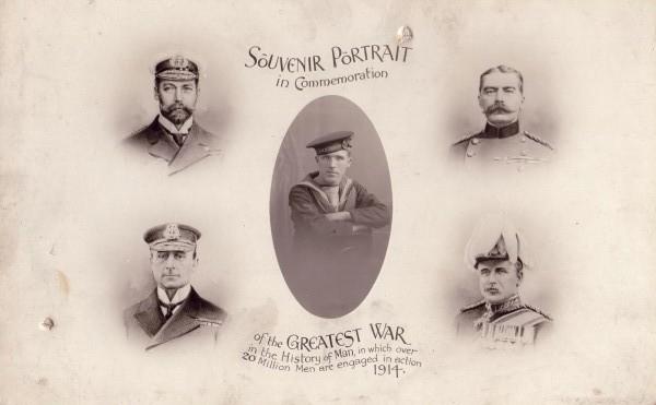 Souvenir Portrait In Commemoration Of The 'Greatest War' 1914