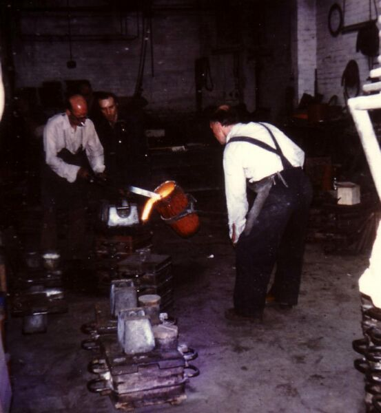 Casting Moulds At Charles Laing & Sons Foundry In Beaverbank Place 1976