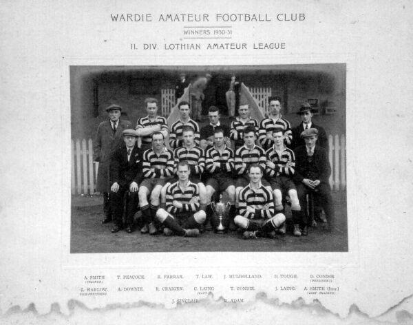 Wardie Amateur Football Club Team 1930-31