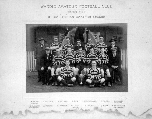 Wardie Amateur Football Club Team 1930-31