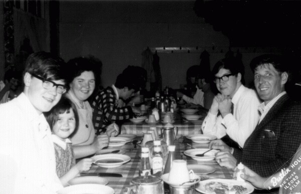 Family Dinner Time On Holiday At Butlins 1969