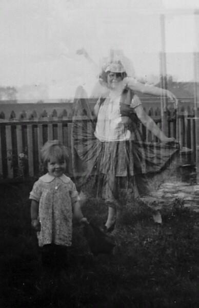 Woman Dancing In Back Garden c.1938