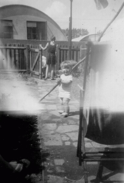 Children Playing In The Back Garden 1947