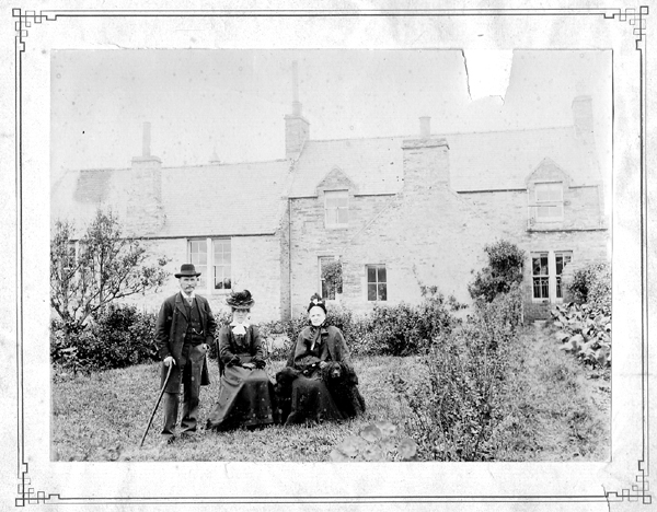 Group Portrait Outside The Schoolhouse At Rendall In Orkney c.1904