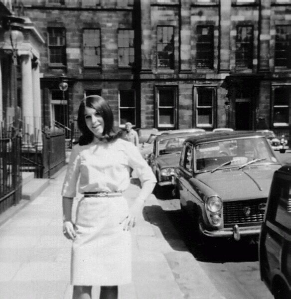Young Woman Standing Outside Offices At Rutland Square c.1964