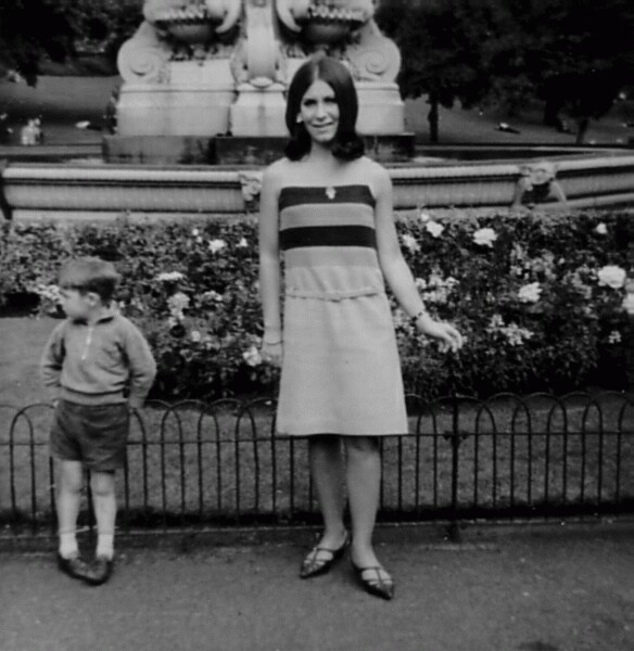 Young Woman On Lunch Break In Princes Street Gardens c.1964