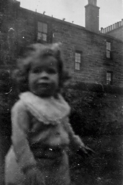 Young Girl In Back Green At East Thomas Street c.1948