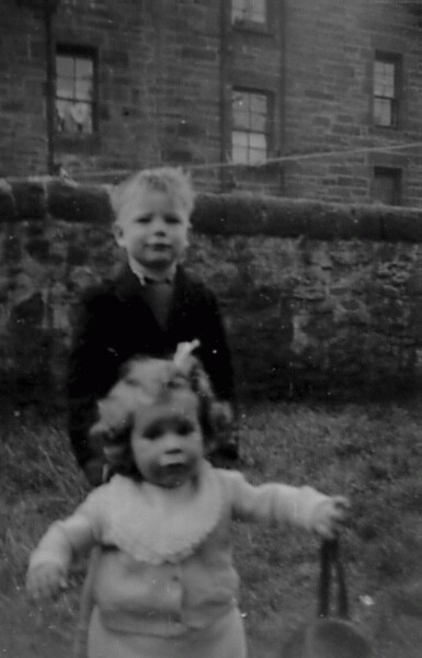 Children Playing In Back Green At East Thomas Street c.1948