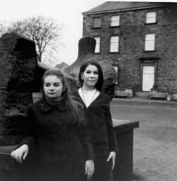 Two Young Women Outside The National Gallery Of Modern Art 1964