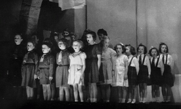 Brownies Concert St Anne's Church Hall c.1957