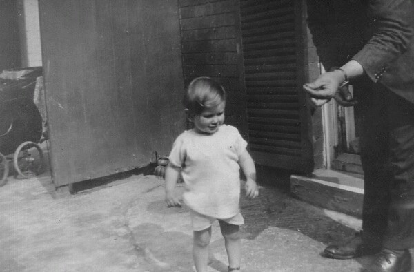 Young Child Taking Walk 1920s