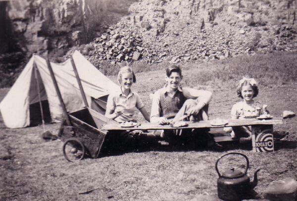Children Having Picnic In The Old Quarry At Auchtermuchty 1951