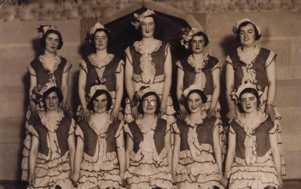 Nurses Putting On A Show For The Patients At Arbroath Hospital c.1932