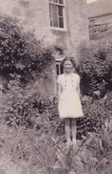 Young Girl In Her Garden In Cupar On Coronation Day, 2nd June 1953