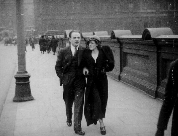 Couple Strolling Arm In Arm Up North Bridge c.1936