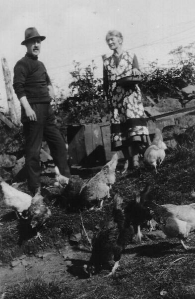 Feeding The Hens 1930s