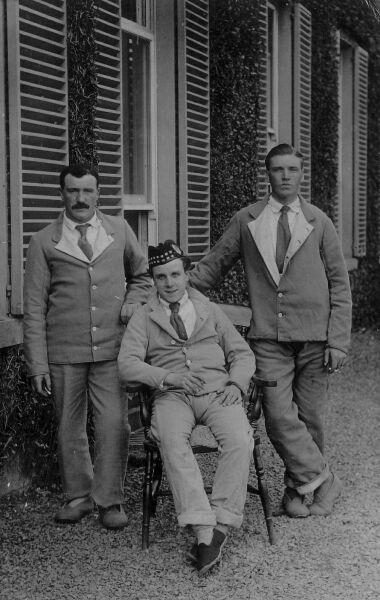 Hotel Staff Having A Smoke Outside The Peebles Hydro Hotel 1920s