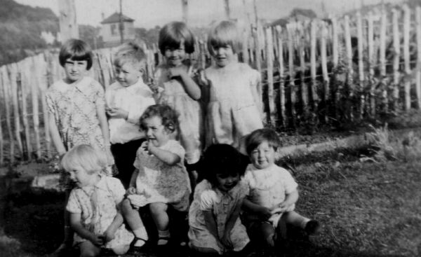 Group Children In The Back Green c.1933