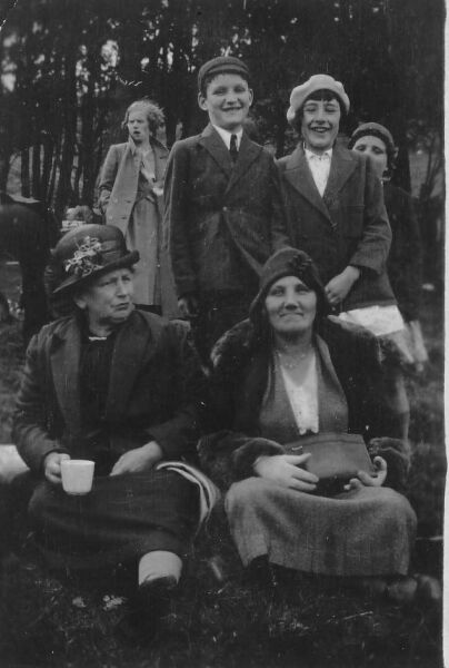 Taking A Rest On An Outing 1929