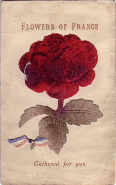 Embroidered Postcard 1914-18
