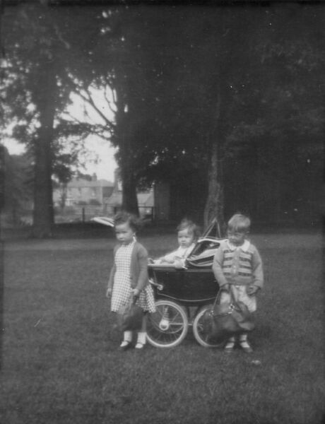 Young Children Out In The Park 1949