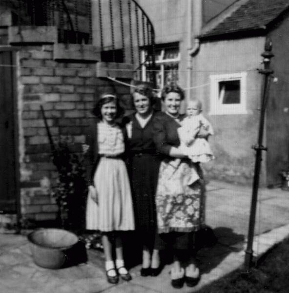 Family Group Washing Day At Burntisland c.1955
