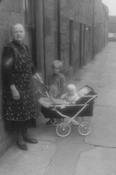 Great Grandmother With Her Great Grandchildren At Ramsay Street In Montrose 1962