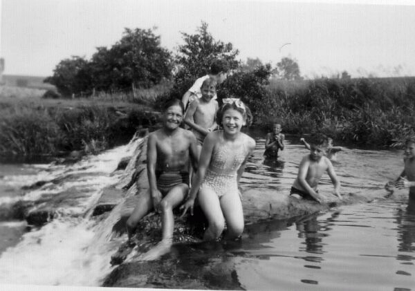 Children At Play On The River c.1956