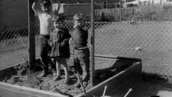Children At Play In Sandpit At Glenrothes 1962