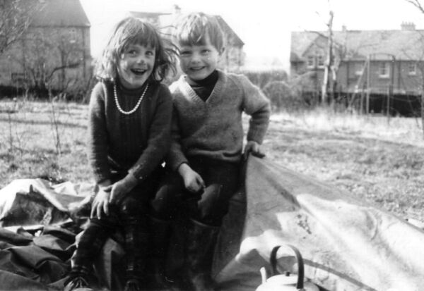 Children Playing In Garden At Clermiston Road North 1968