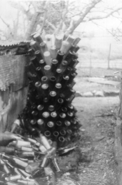 French Bottle-Drying Rack In Yard Of Small Farm, Easter 1963