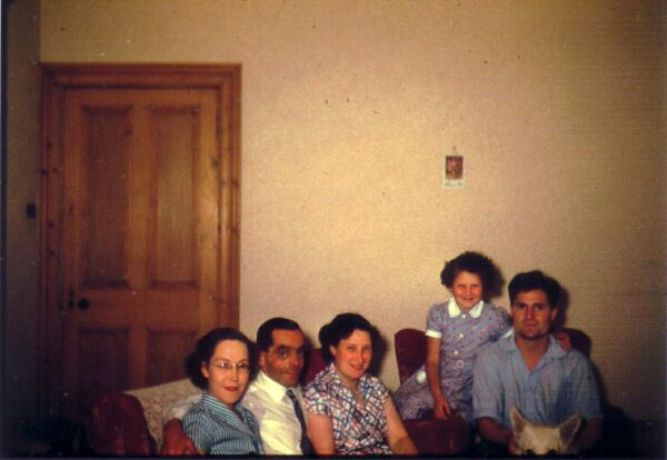 Family And Friends In Sitting Room c.1960