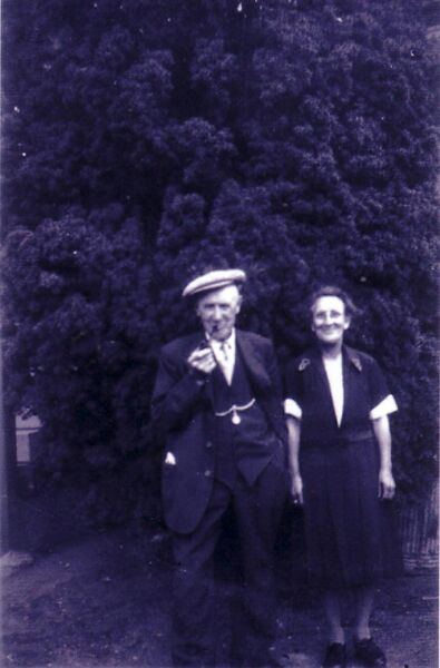 Husband And Wife Out For A Walk 1950s