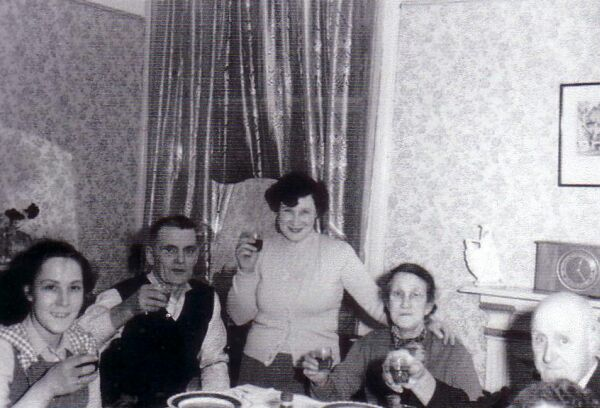 Family Making A Toast At Home In Wardlaw Place 1960s