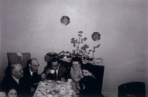 Family Tea And Biscuits At Home In Hart Street 1960s