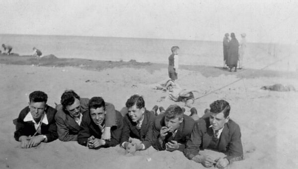 Group Of Friends On The Beach c.1930