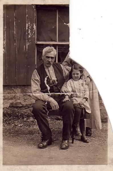 Grandfather With Granddaughter 1890s