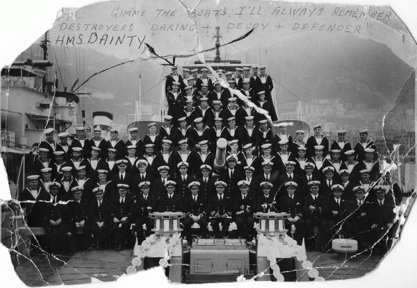 Crew of HMS Dainty 1940s