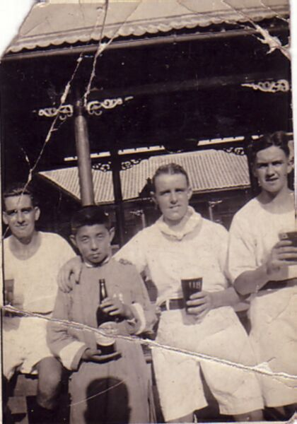 Naval Colleagues Having A Drink Outdoor, early 1960s