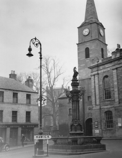 The Jubilee Fountain At Jedburgh c.1956
