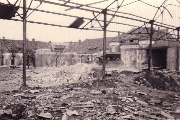 Damaged Buildings And Bunker In Belgium 1945