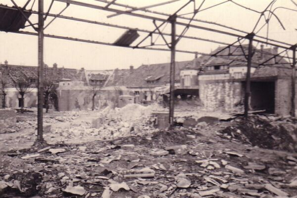 Damaged Buildings And Bunker 1945