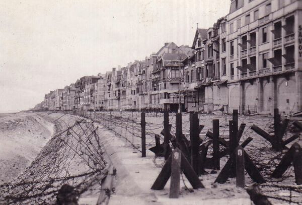 Fortified Beach Front In Belgium 1945