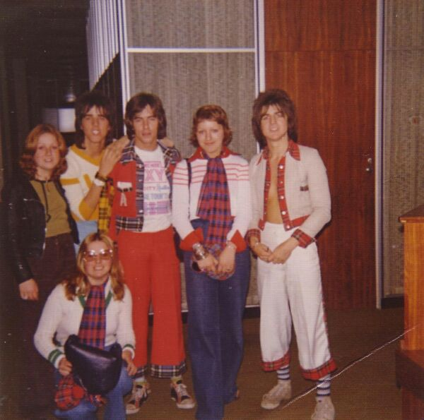 Three Lucky Fans Get To Meet The Bay City Rollers 1974