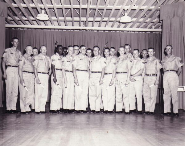 United States Air Force Squadron Personnel AT RAF Kirknewton, late 1950s