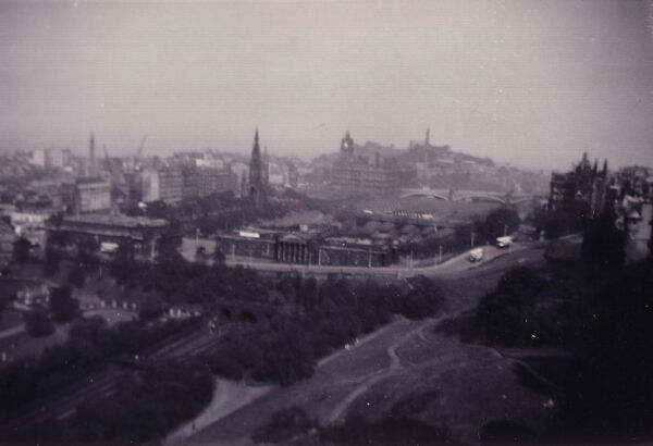 View Of Edinburgh From The Castle Looking East Across The Mound 1956