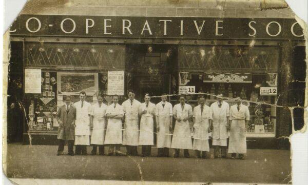 Staff Bangor Road Co-op, late 1920s