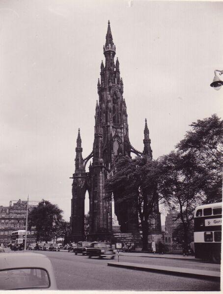 Scott Monument 1950s