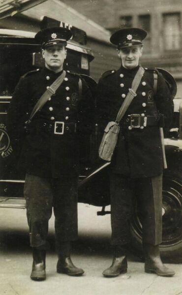 Two Personnel Of The Auxilliary Fire Service 1940