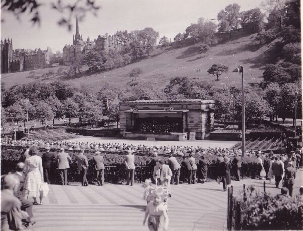 The Ross Bandstand In Princes Street Gardens c.1958